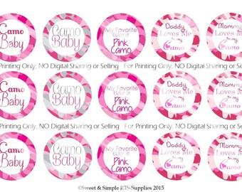 Pink Camo Bottle Cap Images