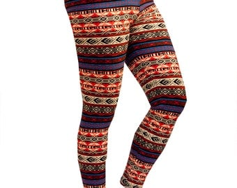 Women Custom Patterned Print Tights/Leggings-Aztec Print