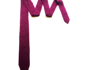 Knitted necktie/fuchsia/wine red/light blue/purple/violet/black/brown/skinny/top quality wool/new wool