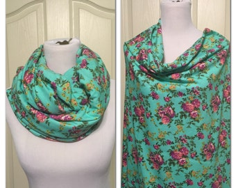 floral Breastfeeding scarf/shawl
