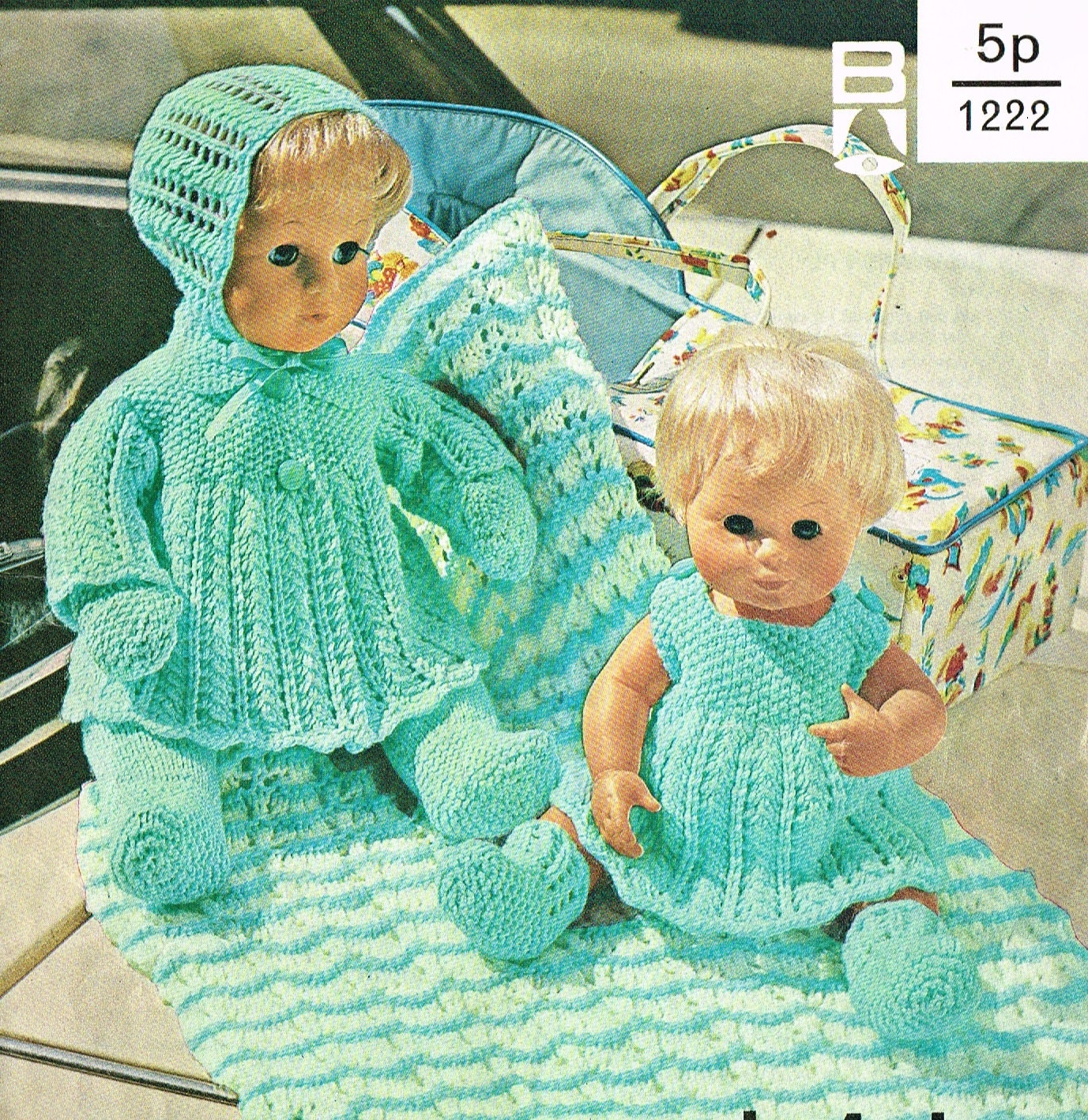 Dolls clothes knitting pattern.12 &16 doll. Baby