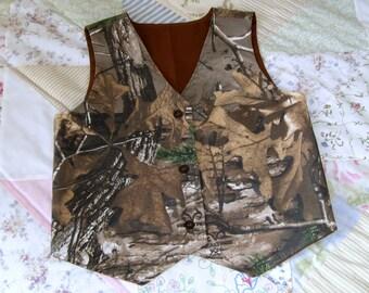 Boys Camo Vest, Camo Wedding Vest,  Camo Item,  Boys Camo Vest