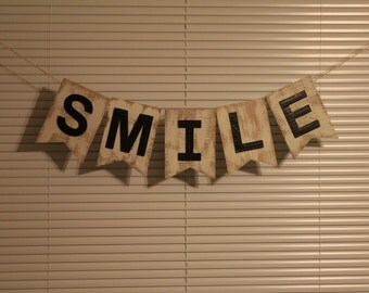 Smile Photo Prop Banner