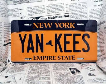 Customisable State License Plate (High Quality print in Japan) / New York 2010