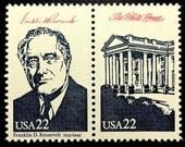 The White House -Franklin D. Roosevelt 1933-1945 -President -USA -18187 Framed Postage Stamp Art