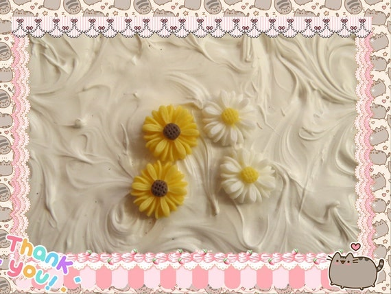 0: )- CABOCHON -( Sunflower Daisy Black Eyed Susans Flowers