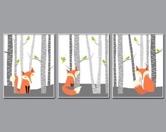 Fox Nursery Wall Art Print. Nursery Art Print. Baby Fox Nursery Art Prints. Baby Boy Nursery Wall Art Print. Bedroom Decor H304