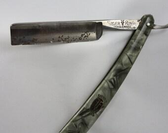 Antique Silver Ring Straight Razor - Grah & Plumacher Solingen - Weyer Germany