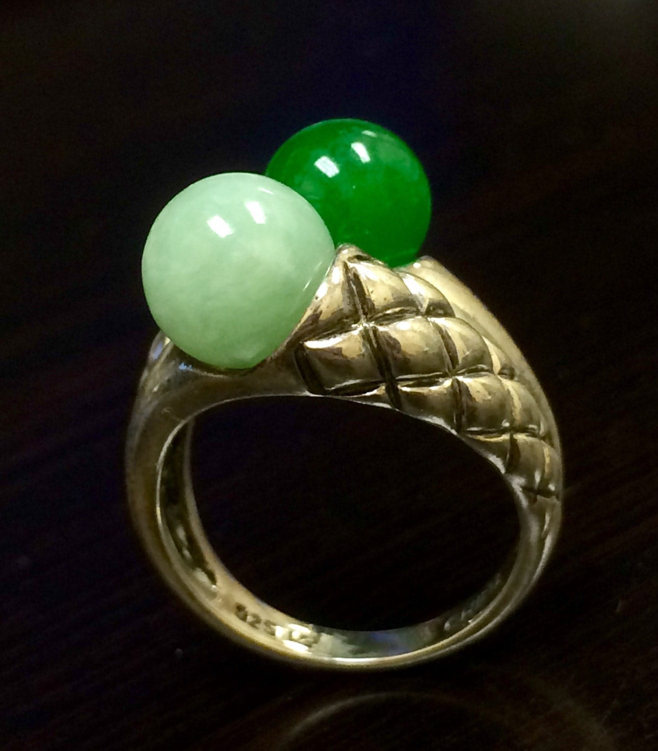 Jade engagement ring jade wedding ring jade by dekaradesigns for Jade wedding ring