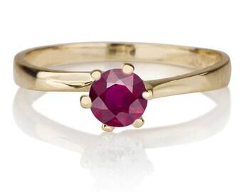 Rubi Ring 14K Yellow Gold