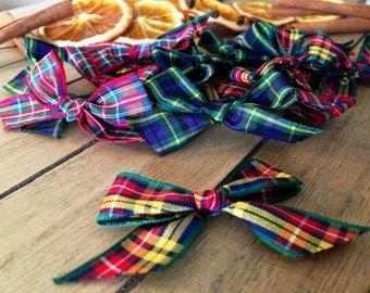 Three Tartan Bow Selection -  Craft Supplies