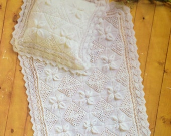 Vintage Leaf Knitting Pattern : Lace knitting case Etsy