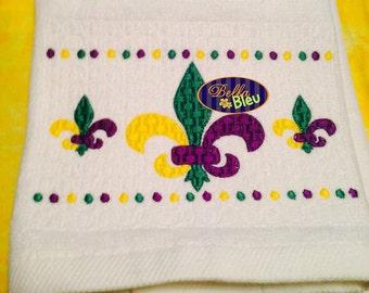 Faux Smocking Mardi Gras Fleur De Lis  Machine Embroidery Design