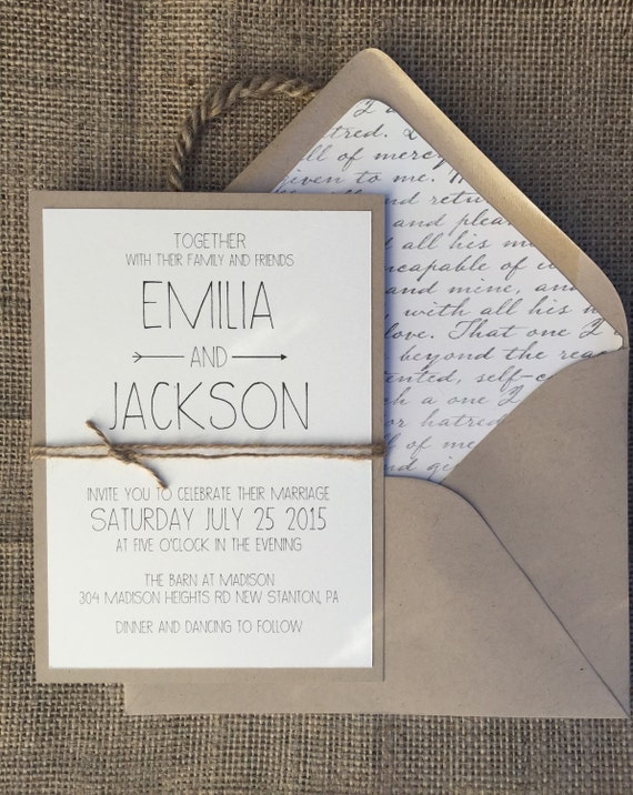 Rustic Modern Chic Wedding Invitation Simple Amp Elegant