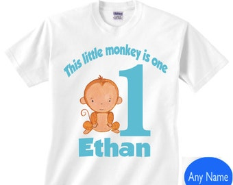 1st birthday monkey shirt