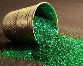 glitter - emerald ultra-fine polyester