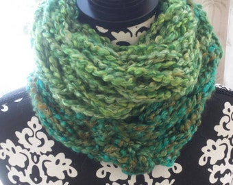 North Woods...Infinity Scarf, Hand Knitted.