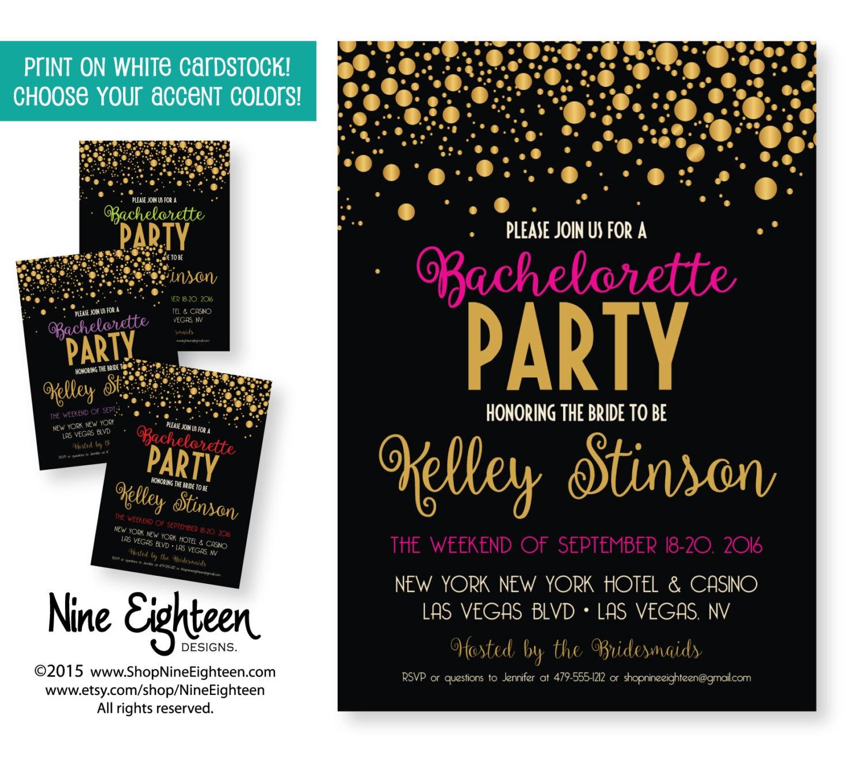 bachelorette party invitation  custom printable by