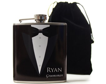 Wedding Party Gifts, Personalized Flasks for Groomsmen