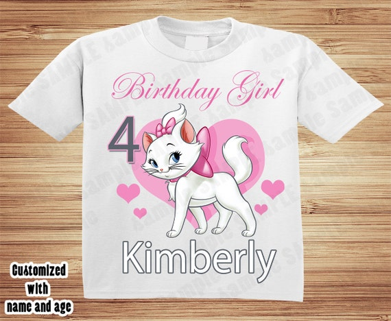 Personalized Aristocat Marie birthday t-shirt - Duchess, Thomas O malley, disney