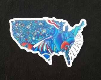 American Love Vinyl Sticker