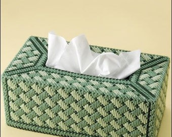 SPLASH OF GREENS - Family Size Tissue Box Cover