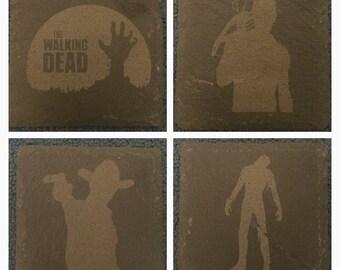 Walking Dead Inspired Slate Coasters