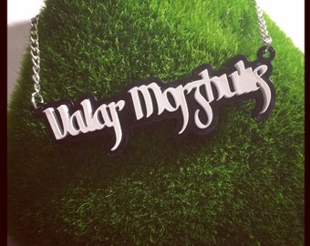 Game of Thrones inspired Valar Morghulis Necklace
