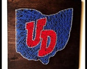 Dayton Flyers String Art, State String Art, Ohio State String Art, Custom String Art
