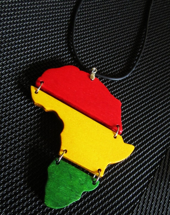 Africa necklace handmade wooden rasta necklace africa like this item aloadofball Image collections
