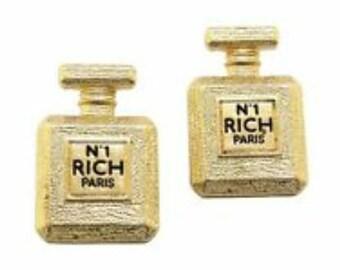 N1 Rich Paris Earrings, Statement Earrings, Gold Earrings, Fashion Earrings.