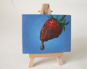 Strawberry & Chocolate Mini Canvas