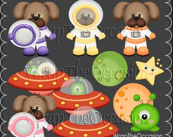 Space Dogs - ECU Clipart