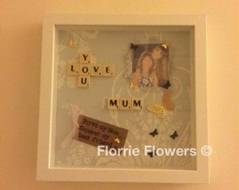 Scrabble personalised mothers day gift / mothers day present / first time mum / first mothers day