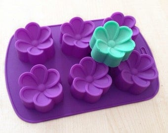 Flower soap mold Flexible Silicone Mold polymer clay mold Cake Mold Resin Mold mould fimo mold Cookie Mold Icing Mold Baking Tools