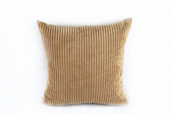 Brown Corduroy Throw Pillow : Corduroy Pillow Cases/ Throw Pillow Covers/ Couch by YeeFomeShop
