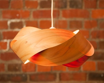The Wrap - wood and copper light shade