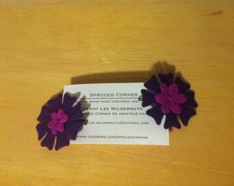 Purple and Mauve Hair Clip