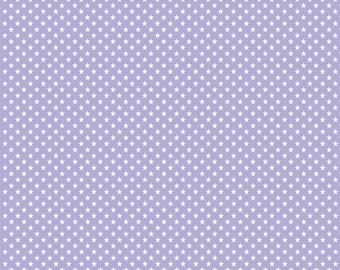 Lavender purple with white mini stars craft  vinyl sheet - HTV or Adhesive Vinyl -  star pattern HTV2409