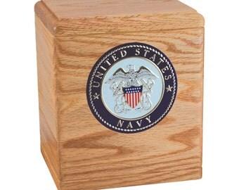 Oak Freedom Military Wood Cremation Urn