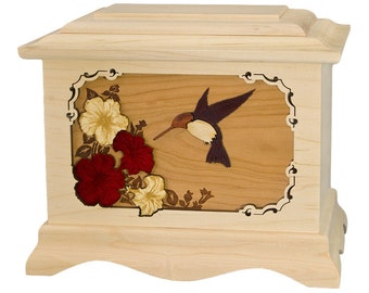 Maple Hummingbird Ambassador Wood Cremation Urn
