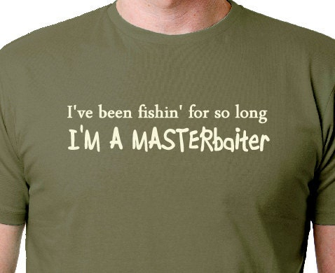 Masterbaiter fishing shirt funny fishing t shirt fishing tee for Funny fishing t shirts