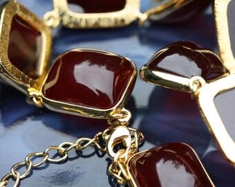 Vintage Kenneth Jay Lane Red Gum Drop Necklace