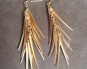 Gold Spiny Dangles