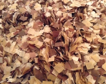 Rustic Wedding Confetti Mix Brown Kraft Confetti Biodegradable Tissue Confetti / InsideMyNest