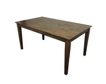 Dinning Table / Kitchen Table / Shaker Table / Tapered Legs / Dark Walnut