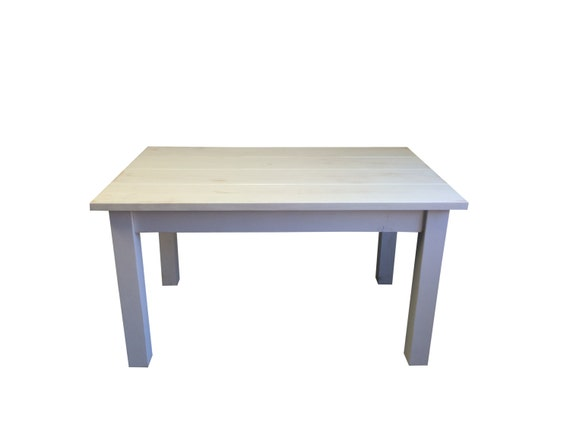 White Distressed Farmhouse Table Rustic Harvest Table