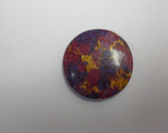 Multicolored Round Sea Sediment Cabochon -   1114806c