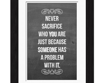 Never Sacrifice Affirmation