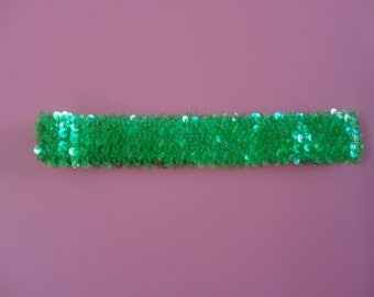 Sequin Headband - Lime Green